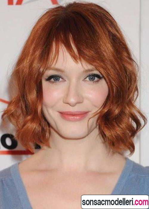 bakır kızıl saç renk örneği