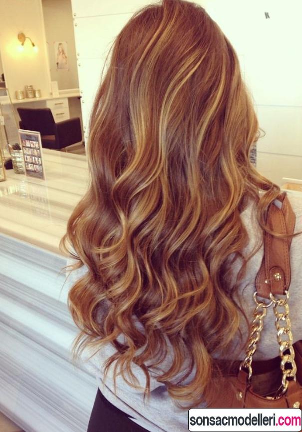 Dalgalı ombre saç rengi