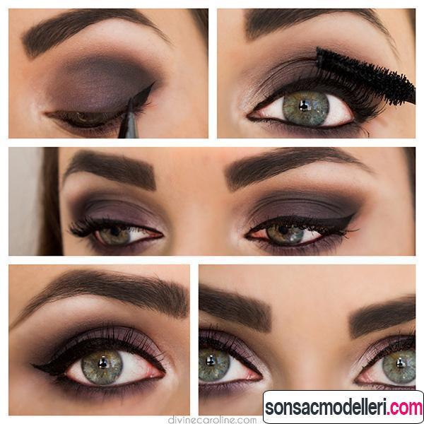 Dumanlı göz makyajı yapımı