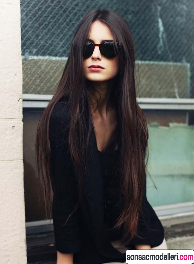 Tarz düz uzun saç modeli