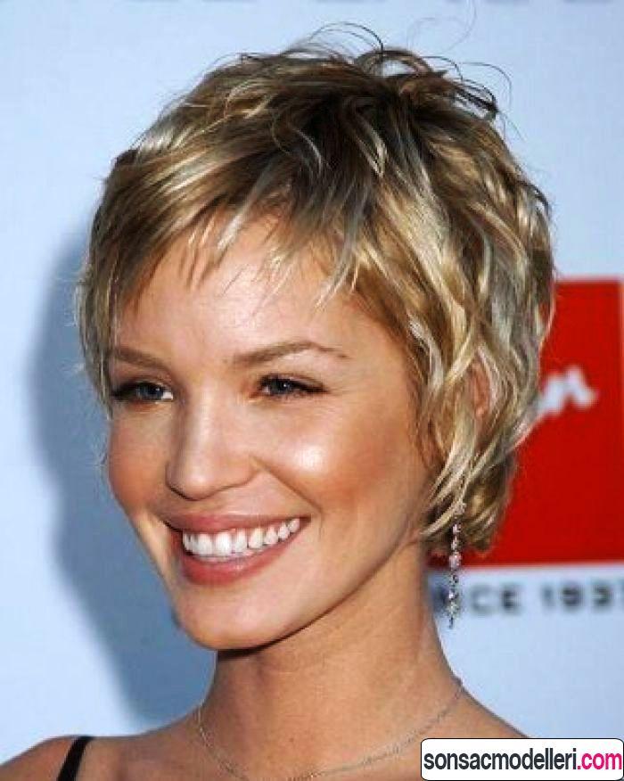 ince telli saçlar için kısa saç modeli