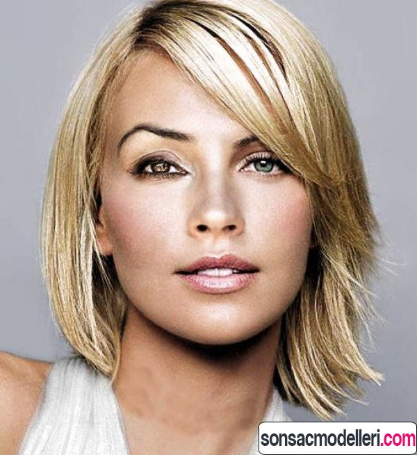 Orta boy perçemli saç modeli