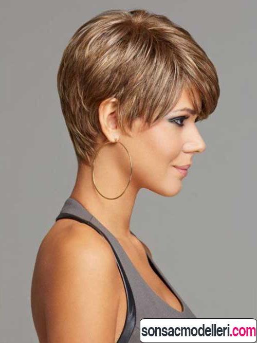 kalın saç tipi için kısa saç modeli