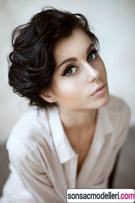 kalın saçlara uygun kısa saç modeli