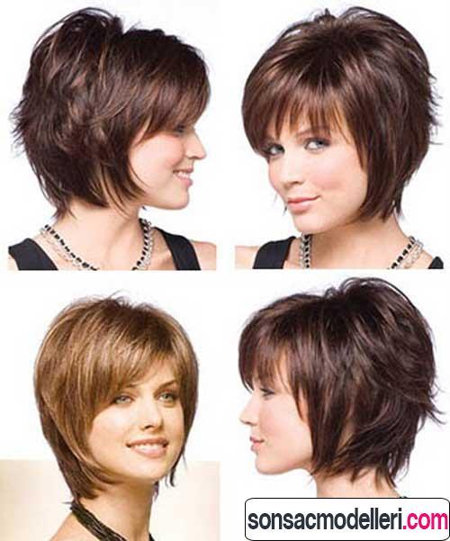 Kısa katlı her açıdan saç modelleri
