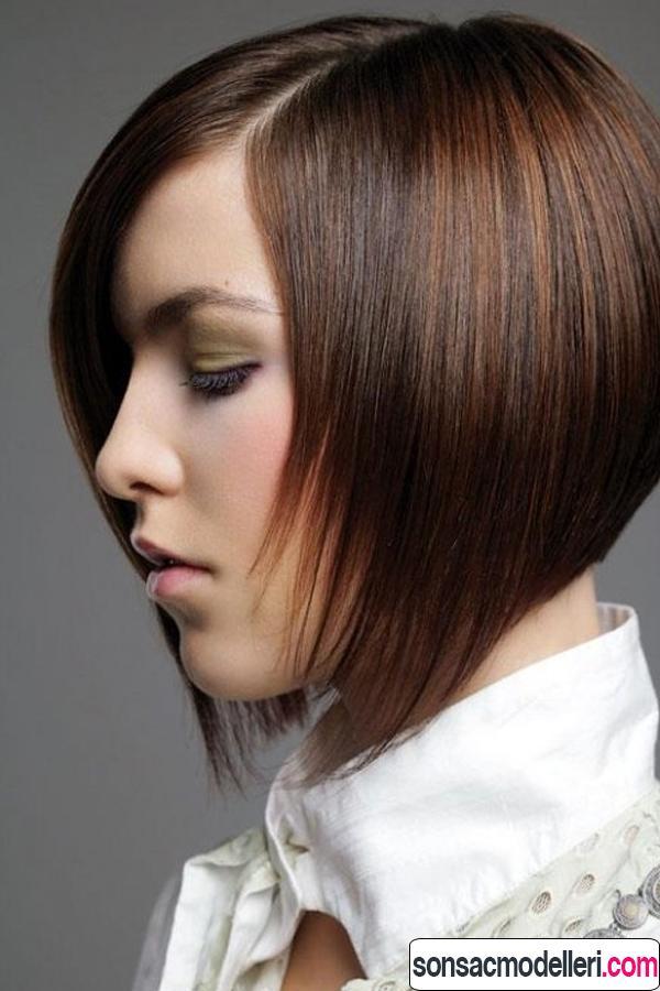 Düz bob saç kesimi