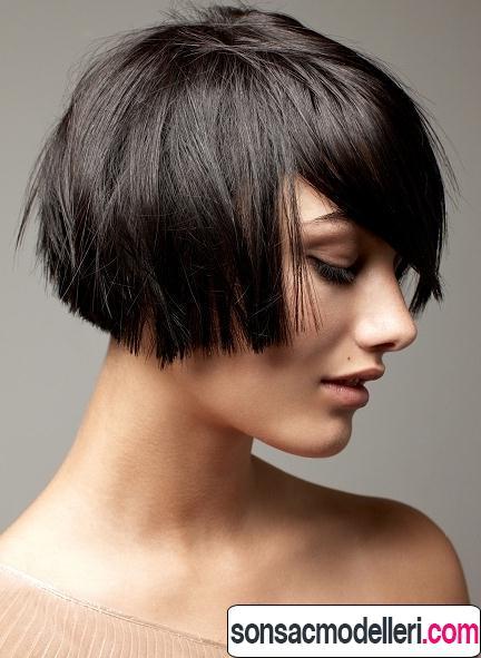 katlı küt güzel saç kesimi