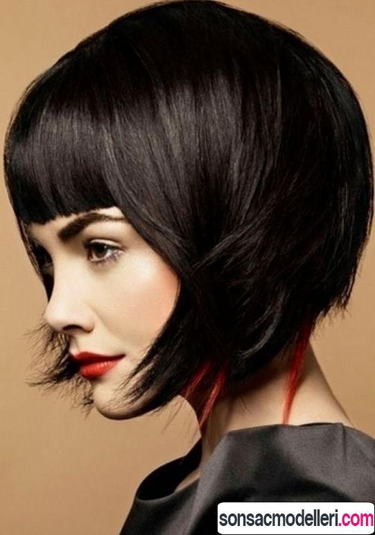 Kahküllü küt saç kesimi