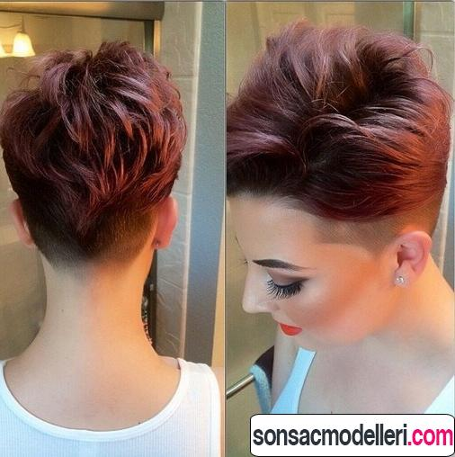 Kısa stil saç modeli pixie