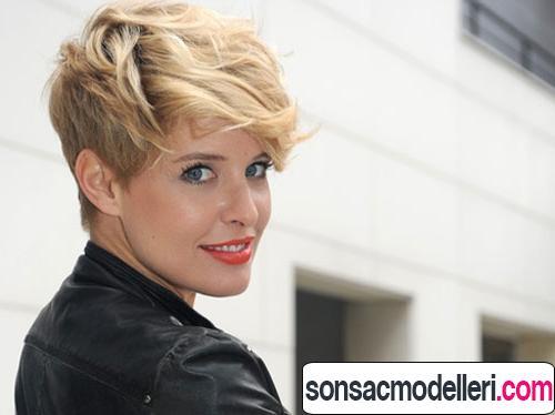 Kısa pixie saç modeli