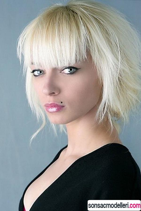 Kalın saç telleri için kısa saç kesimi