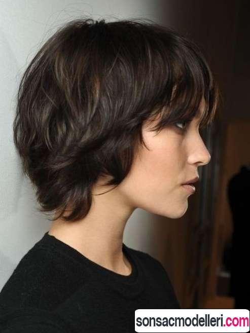 Katlı küt saç modeli