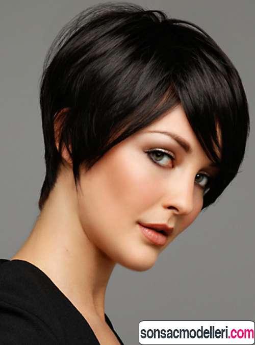 kısa siyah saç