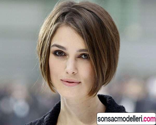 Küt kahverengi bayan saç modeli