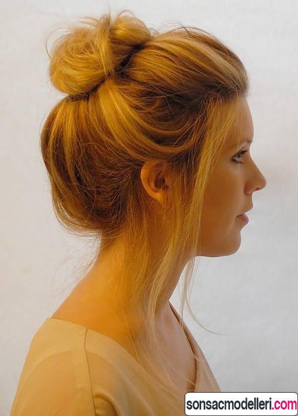 Orta boy saç topuz