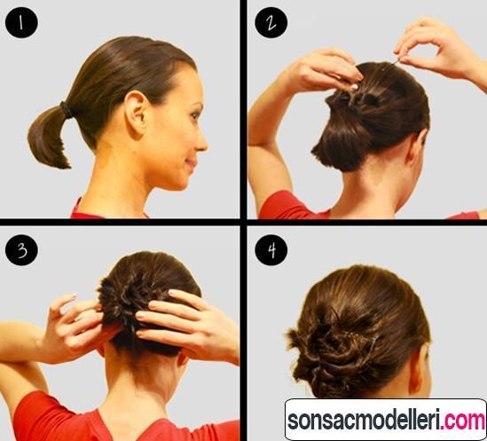 Как сделать пучок на короткие волосы самой