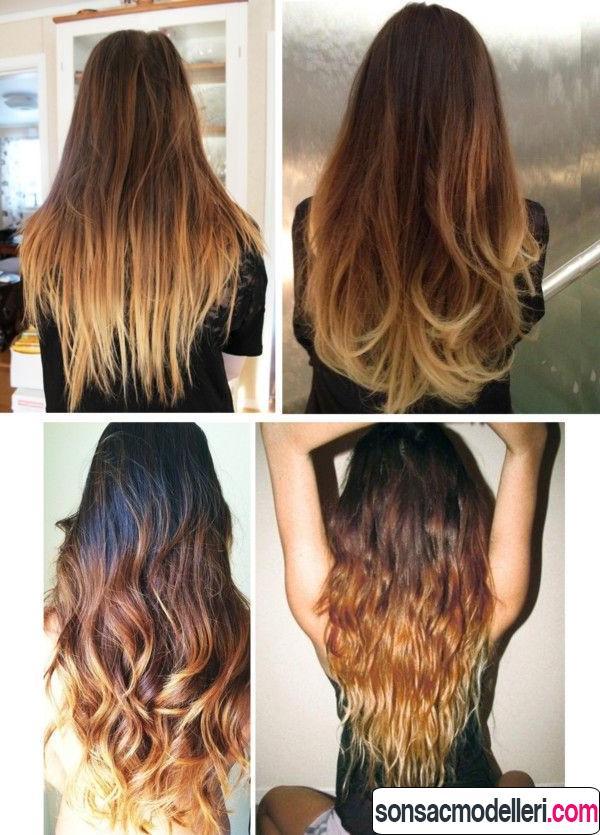 Ombre saç modeli örnekleri