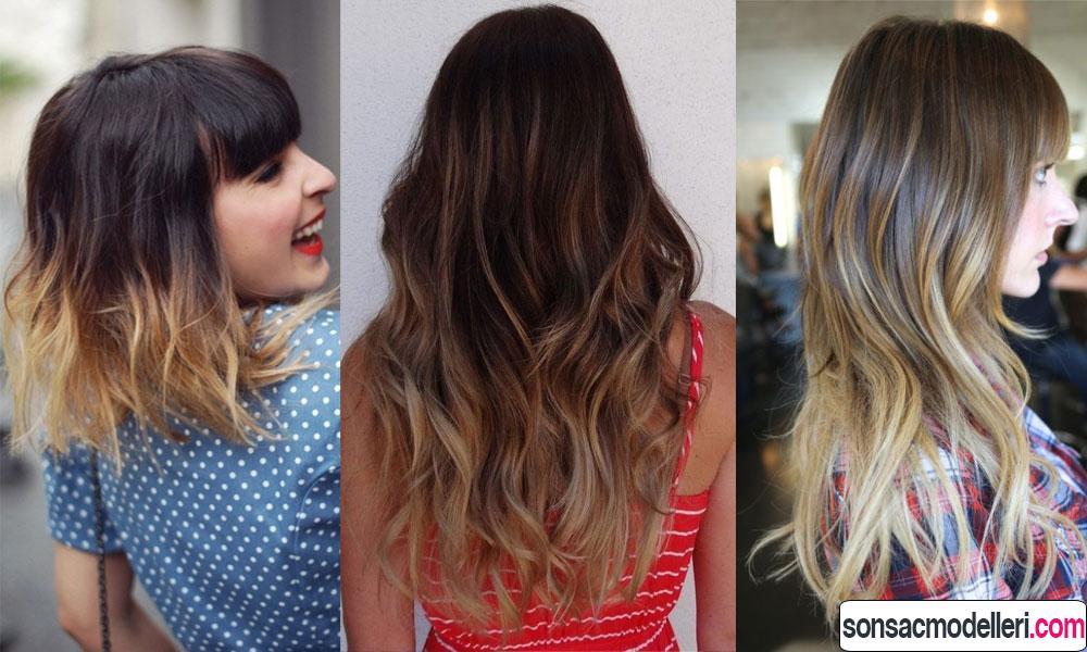 3 adet harika ombre saç model örneği