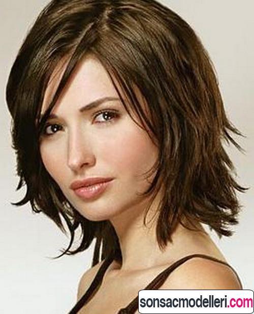Orta boyda saç kesim örneği