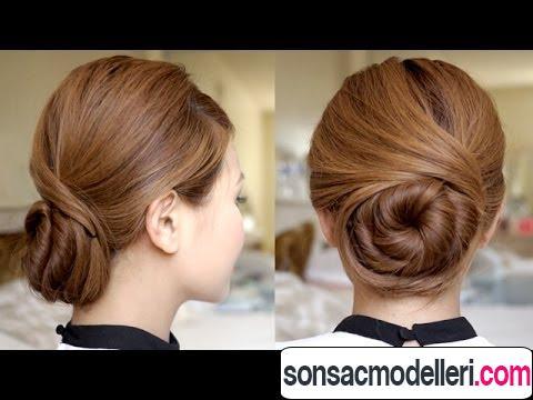Harika bayan topuz saç
