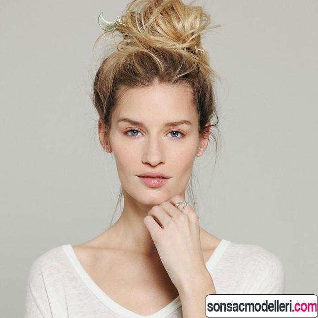Harika topuz saç modeli