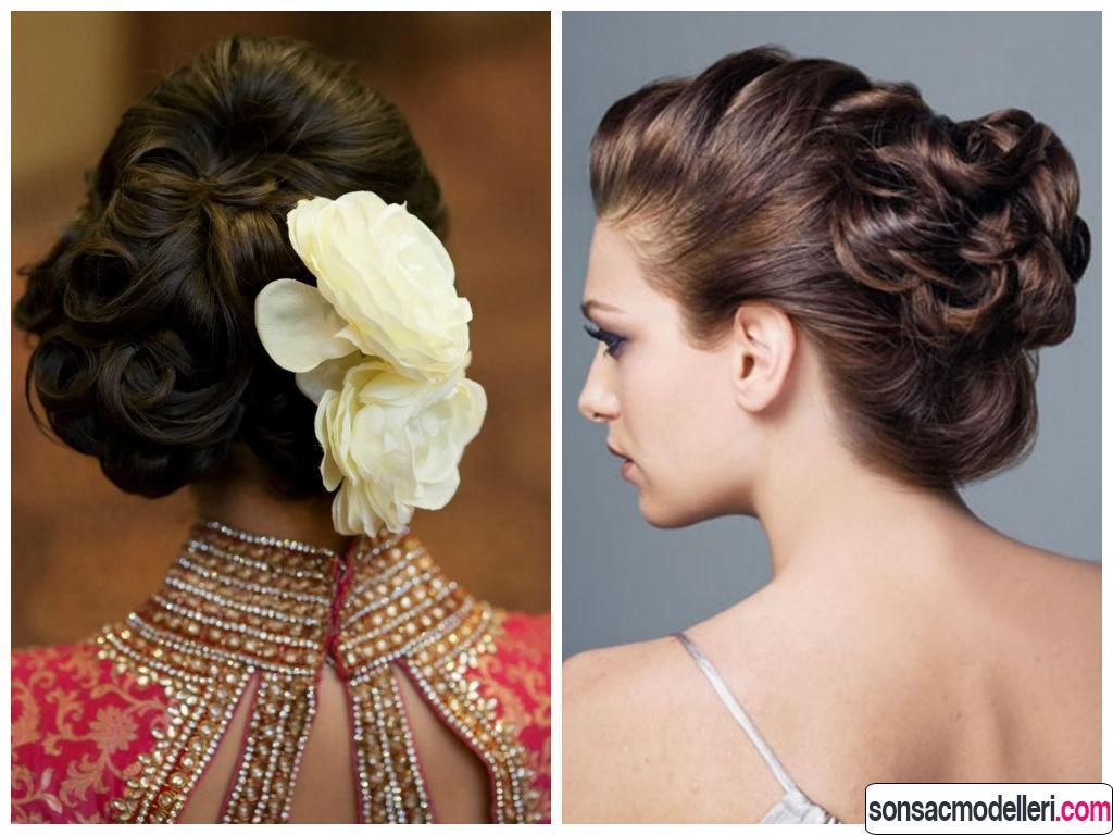 Uzun gelin topuz saç modelleri