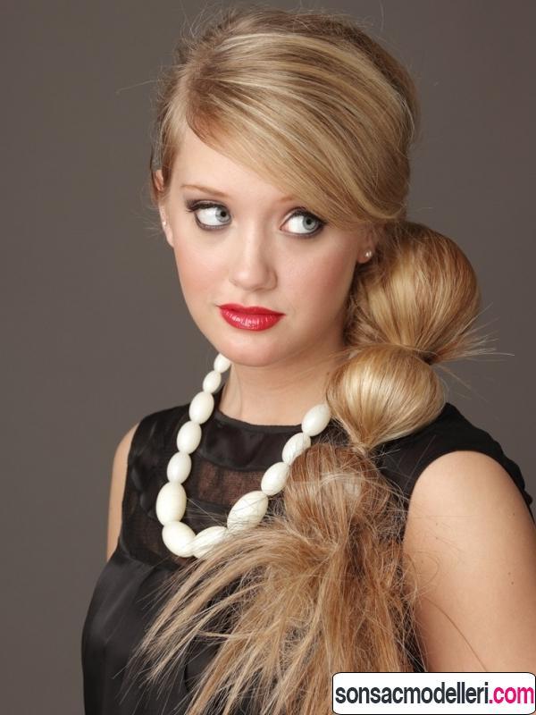 Uzun saç modeli örneği