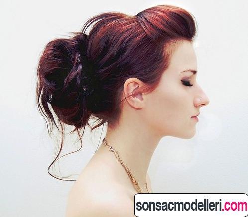 Kızın uzun saçlara uygun topuz saç stili