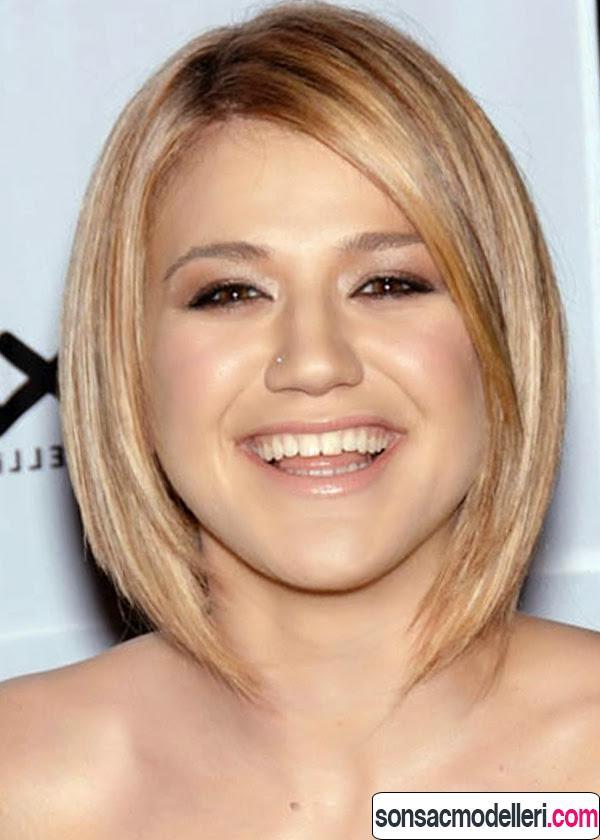 Yuvarlak yüz tipi için kısa saç modeli
