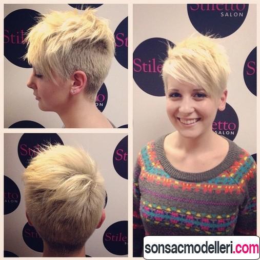 kısa pixie saç kesimi