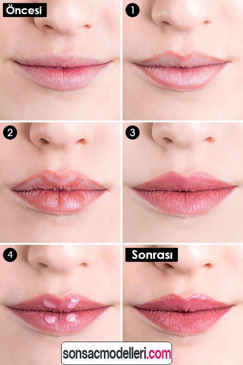 adım adım dudak makyajı nasıl yapılır