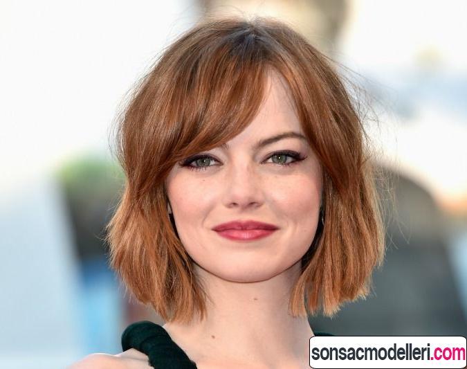 ince telli saçlar için bob saç modeli