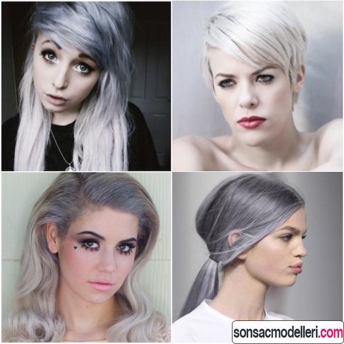 gri saç modelleri