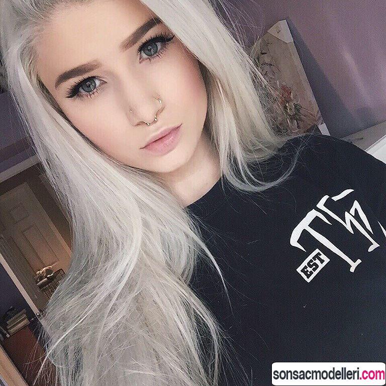 Açık gri saç renk tonu