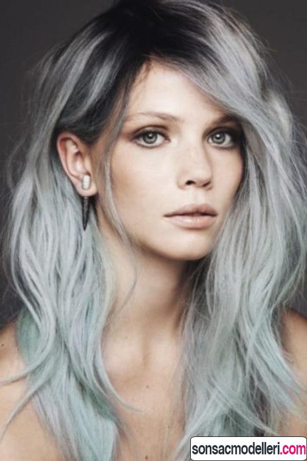 Ombreli gri saç rengi