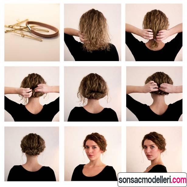 günlük kısa saç modeli yapımı