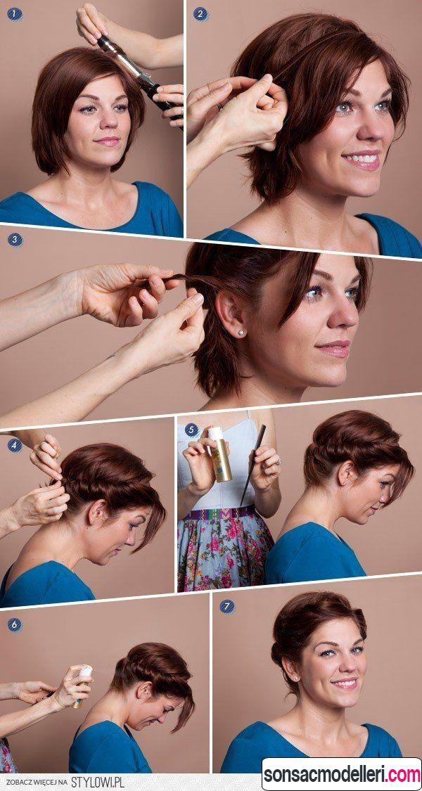 kısa saç modeli yapılışı