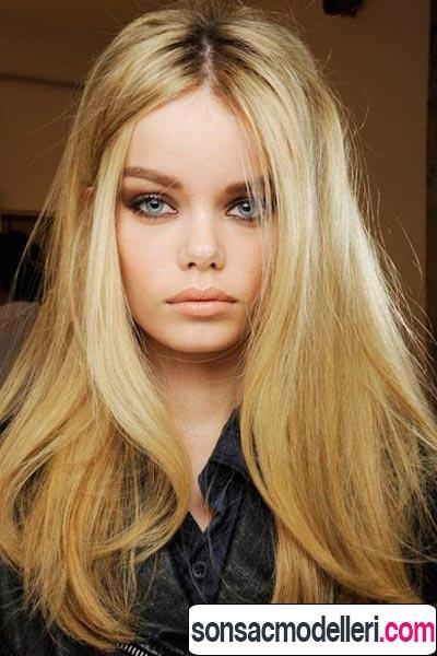 Uzun dalgalı ince saç şekli