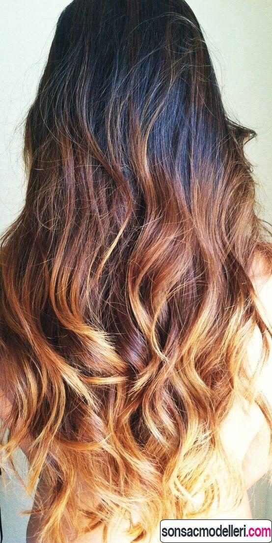 Kıvırcık saç için ombre