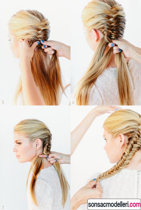 yaratıcı uzun saç modelleri