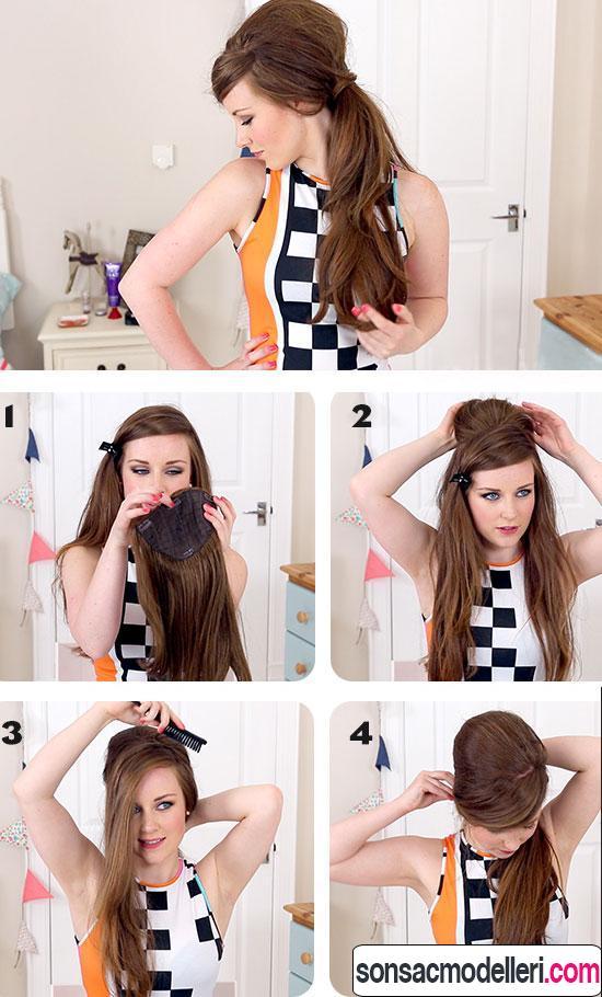 uzun saç modeli nasıl yapılır?