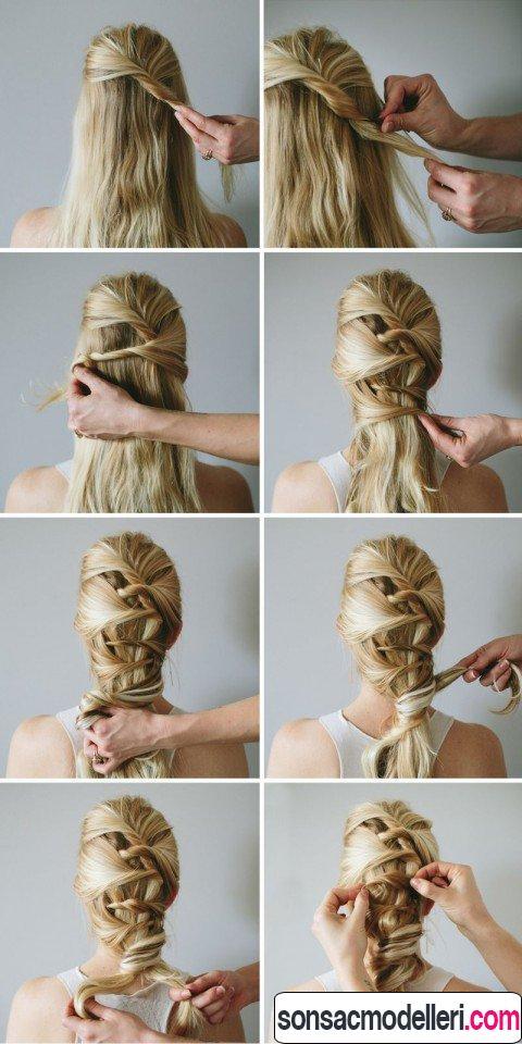 kolay uzun saç modelleri