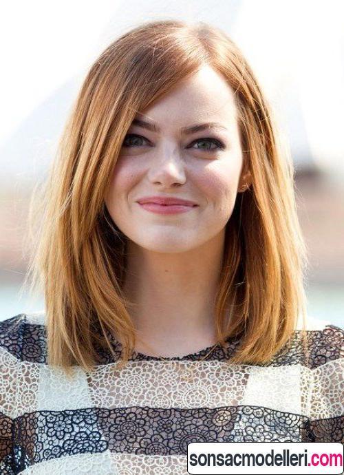 İnce telli saçlar için Lob saç modeli