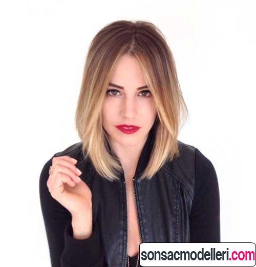Tarz Lob saç modeli