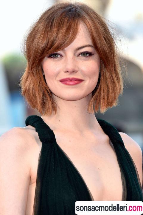 Kızıl Lob saç modeli