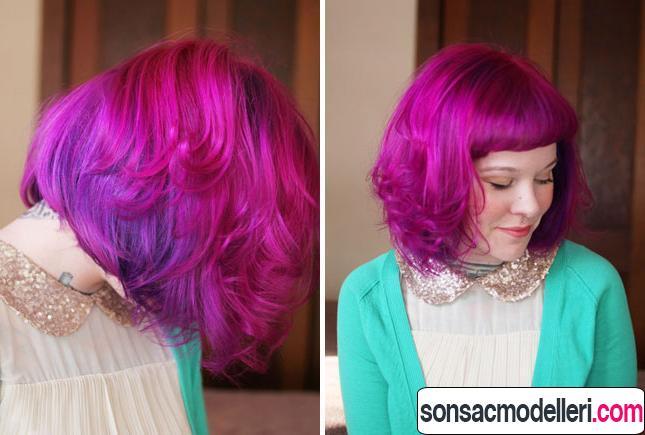 Neon pembe saç renkleri