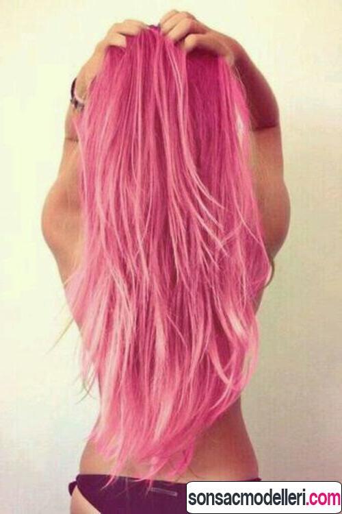Neon pembe saç modelleri