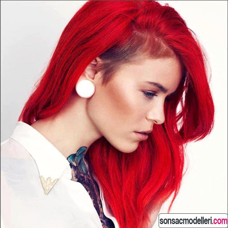 neon kırmızı saç renkleri