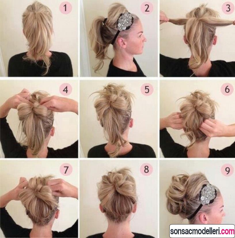 Kolay saç modeli yapımı