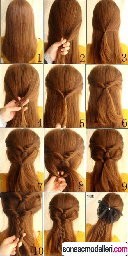 Şık ve kolay saç modeli yapılışı